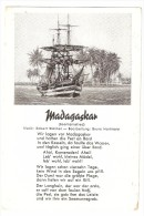 A-815, Postcard, Madagascar - Picture Of A Ship And Written Sailing Song - Madagascar