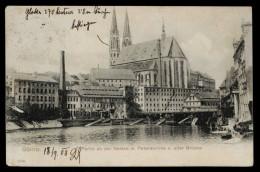 [007] Görlitz, Neisse + Peterskirche + Alte Brücke, Gel. 1908, Reinieke & Rubin (Magdeburg) - Görlitz