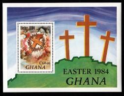 Ghana MNH Scott #911 Souvenir Sheet 60ce Cross, Crown Of Thorns - Easter - Ghana (1957-...)