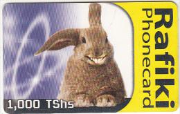 TANZANIA(chip) - Rabbit 2, Rafiki Phonecard 1000 TShs, Used - Tanzania