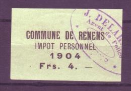 810 - RENENS - Fiskalmarke - Steuermarken