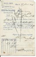 """1874 - LANDES - CARTE PRECURSEUR ENTIER Avec REPIQUAGE PRIVE """"CRESTIN ET TAILLEBOIS"""" à DAX - Entiers Postaux"""
