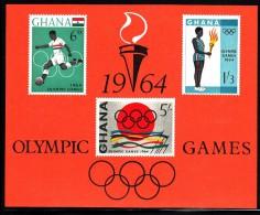 Ghana MNH Scott #185a Souvenir Sheet Of 3 1964 Summer Olympics, Tokyo - Ghana (1957-...)