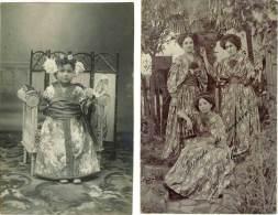 Carte-Photo – 2 CPA – Recuerdo De Carnaval 1909 (Amérique Du Sud, Argentine, Brésil ?) - Brésil