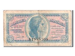 Espagne, 50 Centimos Type 1937-38 - Bankbiljetten