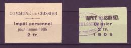 814 - CRISSIER - Fiskalmarken - Fiscaux