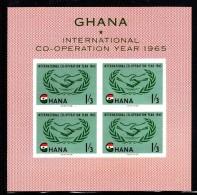 Ghana MNH Scott #203a Souvenir Sheet Of 4 1sh3p International Cooperation Year - Ghana (1957-...)