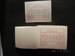 Eupen. Duits - Frans. 50 X C Papier. - Vignettes D'affranchissement