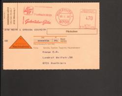 BRD 1986 Freistempel Der Fa. Gebrüder Götz Würzburg Auf Nachnahme Päckchen Karte - [7] République Fédérale