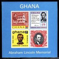 Ghana MNH Scott #211a Souvenir Sheet Of 4 Abraham Lincoln - Ghana (1957-...)