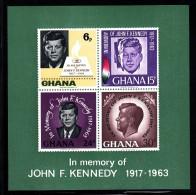 Ghana MNH Scott #239a Souvenir Sheet Of 4 John F Kennedy - Ghana (1957-...)