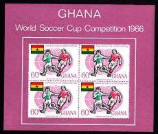 Ghana MNH Scott #263a Souvenir Sheet Of 4 60pa World Cup Of Soccer Championships - Ghana (1957-...)
