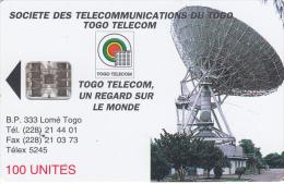 TOGO - Earth Station 2(new Logo-100 Units), Schlumberger Logo On Reverse, Chip SC7, Used - Togo