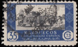SPANISH MOROCCO - Scott #268 Commerce By Truck / Used Stamp - Spaans-Marokko
