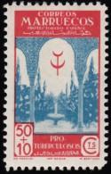SPANISH MOROCCO - Scott #B15 Tuberculosis Fund / Mint LH Stamp - Spaans-Marokko
