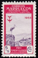 SPANISH MOROCCO - Scott #B43 Stork / Mint NH Stamp - Spaans-Marokko