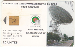TOGO - Earth Station 2(new Logo-20 Units), Chip GEM1, Used - Togo