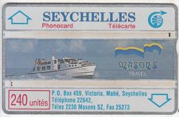 "SEYCHELLES ISL. - Mason"" S Travel, CN : 011E, Tirage 4000, Used - Seychellen"