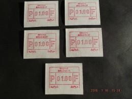 Tweevoudige Deeldruk. Roeselare. 5 X C Papier. - Vignettes D'affranchissement