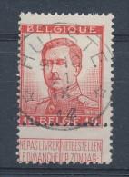 126/24 - Premiers Mois De GUERRE - Timbre Pellens 10 C. SUPERBE Cachet RELAIS à Etoiles HULSTE 21 IX 1914 - WW I