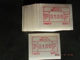 Tweevoudige Deeldruk. Roeselare. 50 X C Papier. - Postage Labels