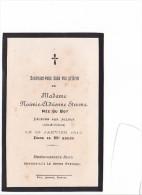 25548 Image Pieuse Avis Mortuaire - Mme Noemie STEVENN 1913 -aux Alleux 35 -France ! - Santini