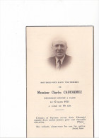 25549 Image Pieuse Avis Mortuaire - Charles CAUCHEMEZ 1951 Paris -France ! - Images Religieuses