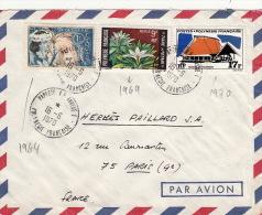 Lettre Papeete Tahiti Pour Paris 1970 >> 27F - Tahití