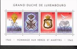 Luxemburg Block 14 Jahre Waffenstillstand  MNH Postfrisch ** - Blocs & Hojas