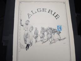FRANCE - ALGERIE - Superbe Illustration Manuelle - 1 Ex -  Superbe - A Voir - Lot N° 10613 - Algérie (1924-1962)