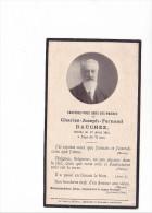 25552 Image Pieuse Avis Mortuaire - Charles Joseph DAUCHEZ 1914 - -France - Images Religieuses