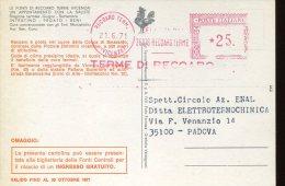 4288 Italia, Red Meter Freistempel Recoaro  1971  , Circuled Card , Terme  Thermal Bad - Affrancature Meccaniche Rosse (EMA)
