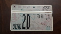 Israel-bz50a-fourth Definitive Series-(368a)-(SCALE ERROR)-tirage48.000-used Card+2card Prepiad Free - Israele