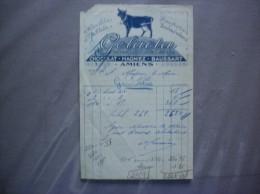 AMIENS CHOCOLAT MAGNIEZ-BAUSSART GELACTA ROI DES CHOCOLATS AU LAIT FACTURE - 1900 – 1949