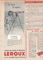 472/17/  Page Publicitaire Advetising - Année 1958 - Chicorée Leroux - Publicités