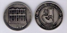 AC - EFESOS, EPHESUS, HADRIAN CELSUS LIBRARY COMMEMORATIVE OXIDE SILVER COIN TURKEY 2000 UNCIRCULATED - Turchia