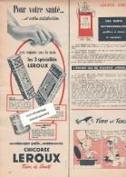 473/2/  Page Publicitaire Advetising - Année 1959 - Chicorée LEROUX - Publicités