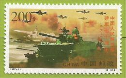 Chine 1997 3498 ** 70ème Anniversaire Armée De Libération Du Peuple Chinois Chars Avions Bateau - 1949 - ... République Populaire