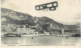 AVIATION .... MONACO ... VOL AU DESSUS DE LA MEDITERRANEE PAR ROUGIER SUR BIPLAN VOISIN - ....-1914: Precursors