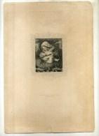 - VIERGE A L'ENFANT . GRAVURE SUR ACIER DU XIXe S. - Religion & Esotericism