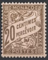 MONACO 1924 / 1932 N° 18 -  Timbre Taxe NEUF**  G35 - Impuesto