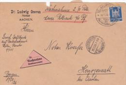 Nachnahme Notar Aachen 1926 - Deutschland