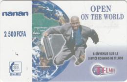 BURKINA FASO - Open On The World, Telemob By Onatel Prepaid Card 2500 FCFA, Used - Burkina Faso