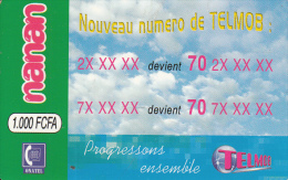 BURKINA FASO - Nouveau Numero De TELEMOB, Telemob By Onatel Prepaid Card 1000 FCFA, Used - Burkina Faso