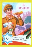 Tarjeta De Felicitación Navidades 1973 De  EL BASURERO - Cartes De Visite
