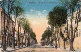 BELGRAD (Jugoslawien) - Konakgasse, Strassenbahn, Gel.1916, Ungarische Marke - Jugoslawien