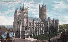 CANTERBURY (Grafschaft Kent) Cathedral, Gel.1904, 2 Marken - Canterbury