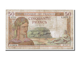 50 Francs Type Cérès - 1871-1952 Antichi Franchi Circolanti Nel XX Secolo