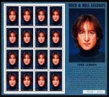 Ghana MNH Scott #1991 Minisheet Of 16 400ce John Lennon - Ghana (1957-...)
