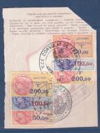 France,fiscaux, Affaires Etrangeres,  N°38+39+40 X2 Sur Feuillet De Passeport,MAJUNGA Et TANANARIVE,(FXAE/022) - Steuermarken